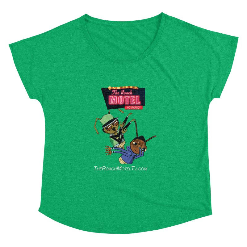 Roach DAB (Color) in Women's Dolman Scoop Neck Heather Green by The Roach Motel's Artist Shop