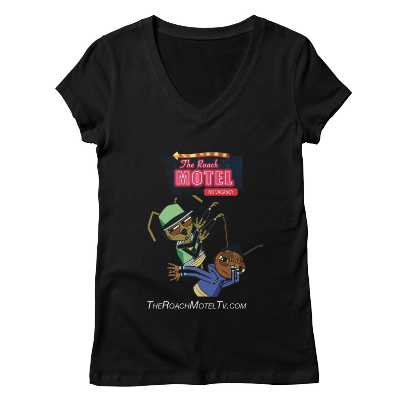 Roach DAB (Color) Women's Regular V-Neck by The Roach Motel's Artist Shop