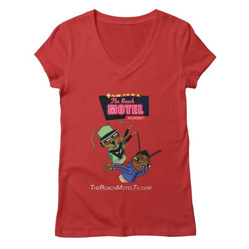 Roach DAB (Color) Women's Regular V-Neck by The Roach Motel's Artist Shop