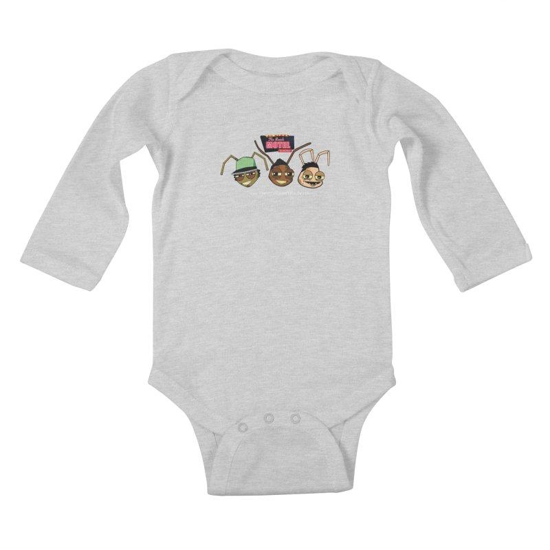 Heads (Color) Kids Baby Longsleeve Bodysuit by The Roach Motel's Artist Shop