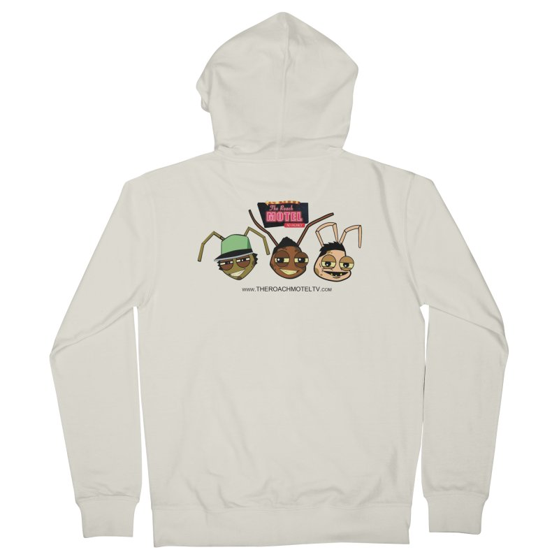 Heads (White) Women's French Terry Zip-Up Hoody by The Roach Motel's Artist Shop