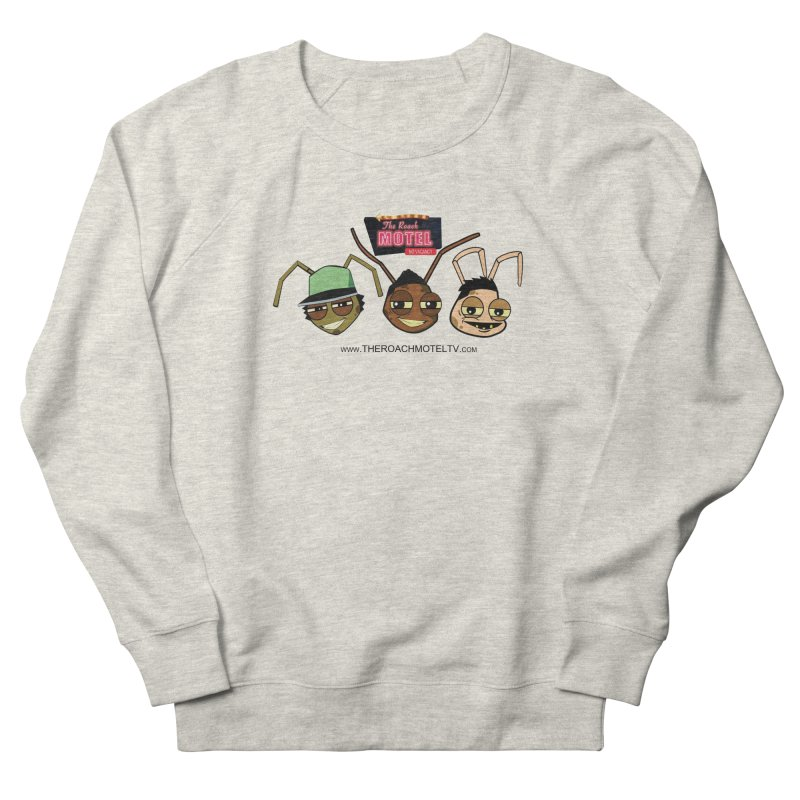 Heads (White) Men's French Terry Sweatshirt by The Roach Motel's Artist Shop