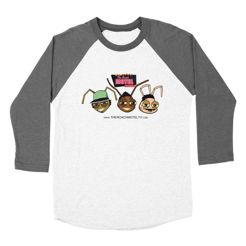 Heads (White) Women's Baseball Triblend Longsleeve T-Shirt by The Roach Motel's Artist Shop