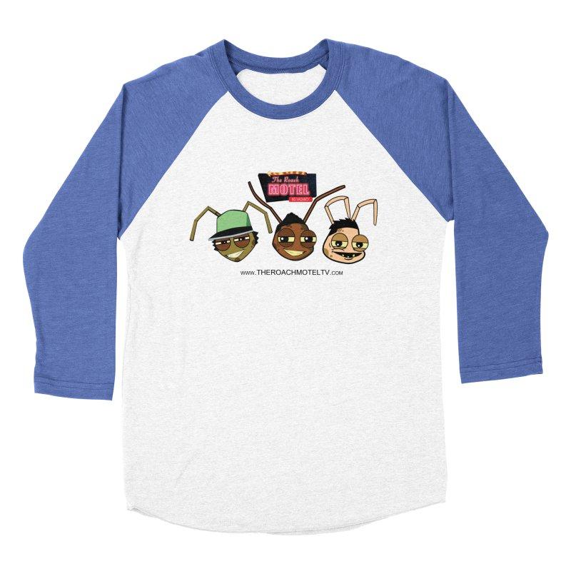 Heads (White) Men's Baseball Triblend Longsleeve T-Shirt by The Roach Motel's Artist Shop