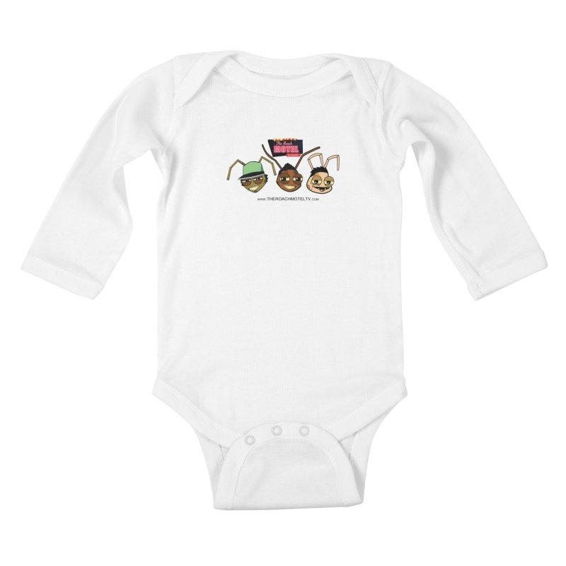 Heads (White) Kids Baby Longsleeve Bodysuit by The Roach Motel's Artist Shop