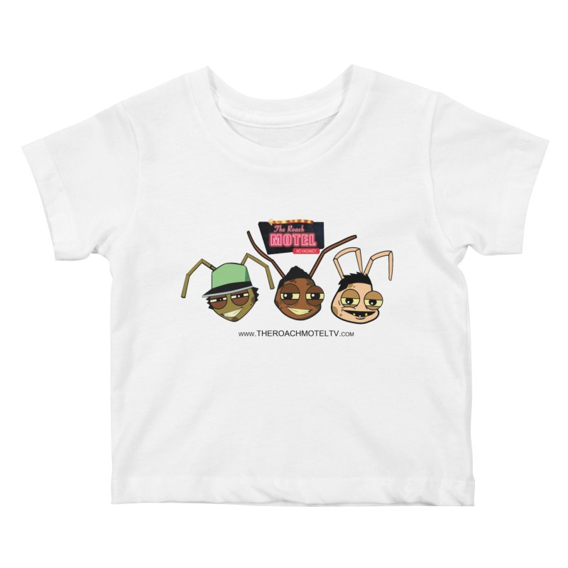 Heads (White) Kids Baby T-Shirt by The Roach Motel's Artist Shop