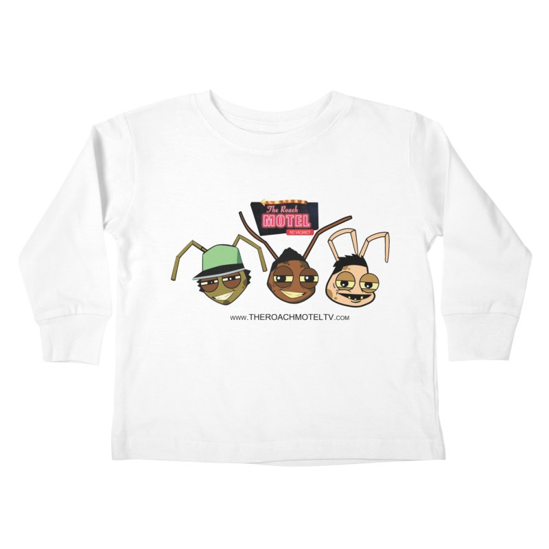 Heads (White) Kids Toddler Longsleeve T-Shirt by The Roach Motel's Artist Shop