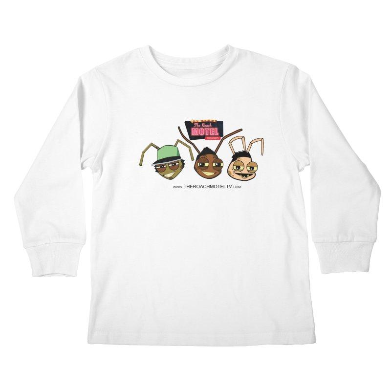 Heads (White) Kids Longsleeve T-Shirt by The Roach Motel's Artist Shop