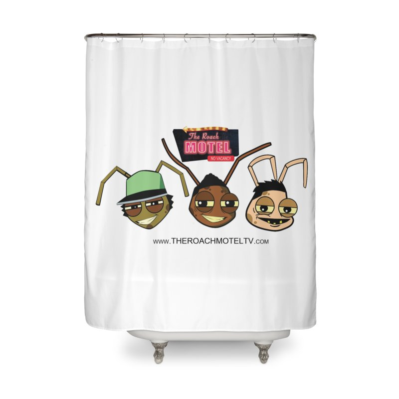 Heads (White) Home Shower Curtain by The Roach Motel's Artist Shop