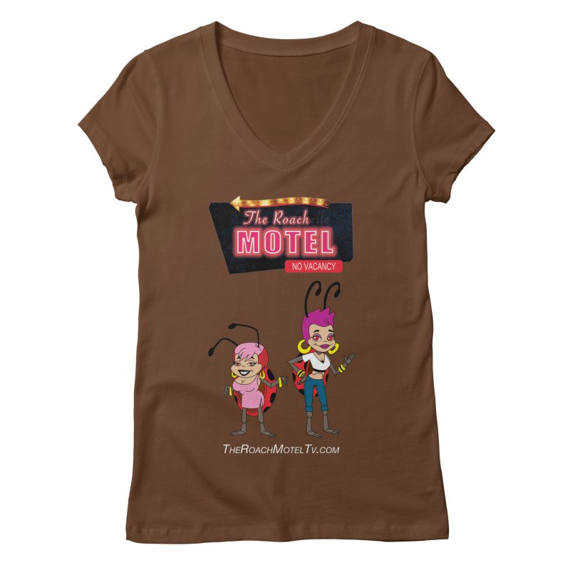 Ladybug (Color) Women's Regular V-Neck by The Roach Motel's Artist Shop