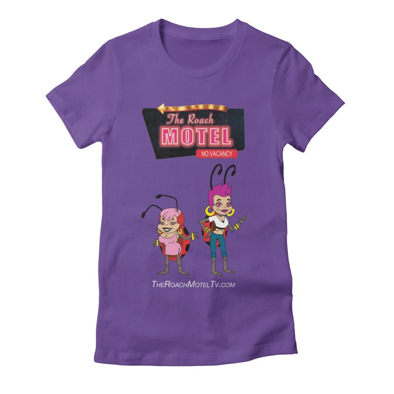 Ladybug (Color) in Women's Fitted T-Shirt Purple by The Roach Motel's Artist Shop