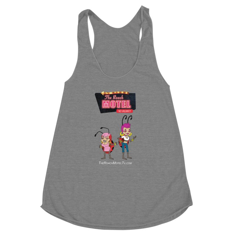 Ladybug (Color) Women's Racerback Triblend Tank by The Roach Motel's Artist Shop