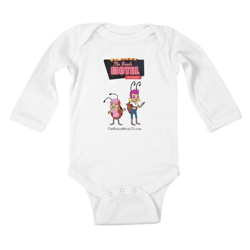 Ladybug (White) Kids Baby Longsleeve Bodysuit by The Roach Motel's Artist Shop