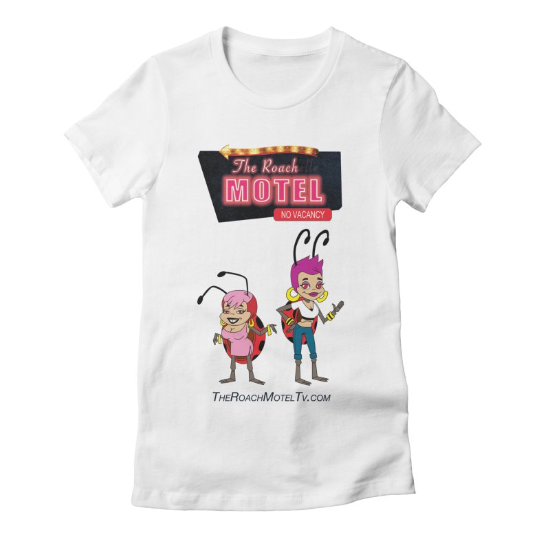 Ladybug (White) Women's Fitted T-Shirt by The Roach Motel's Artist Shop