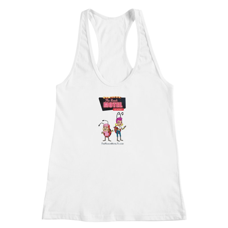 Ladybug (White) Women's Racerback Tank by The Roach Motel's Artist Shop