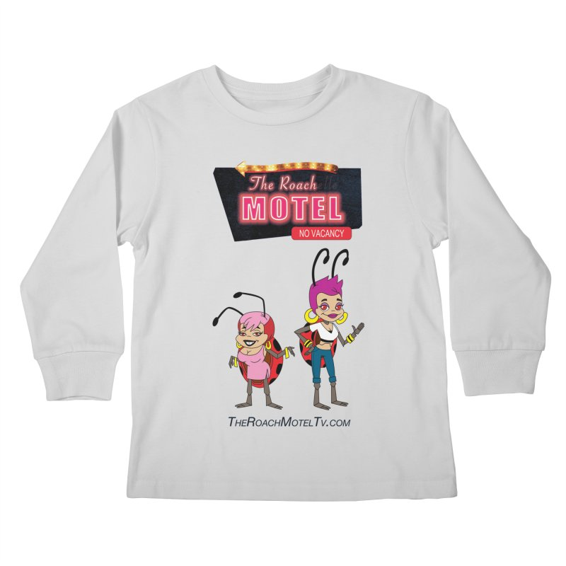 Ladybug (White) Kids Longsleeve T-Shirt by The Roach Motel's Artist Shop