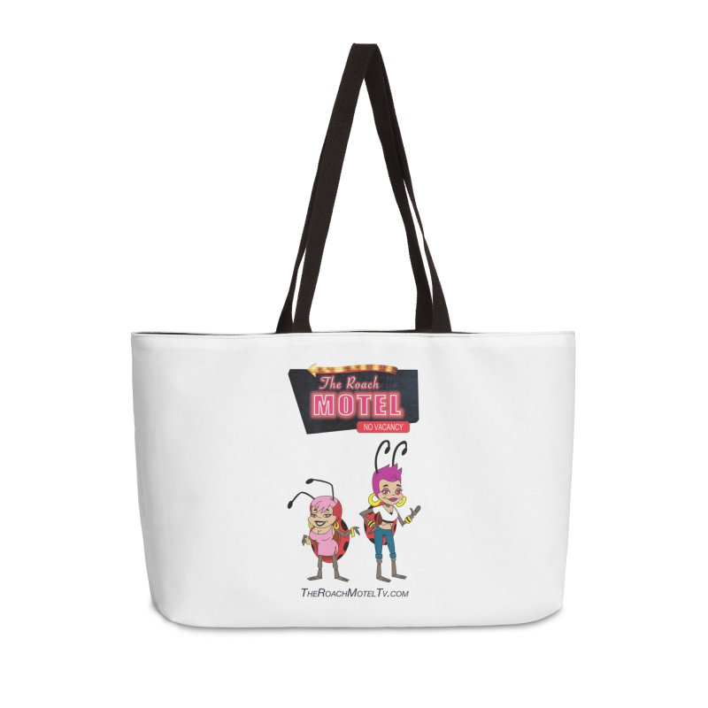Ladybug (White) Accessories Weekender Bag Bag by The Roach Motel's Artist Shop