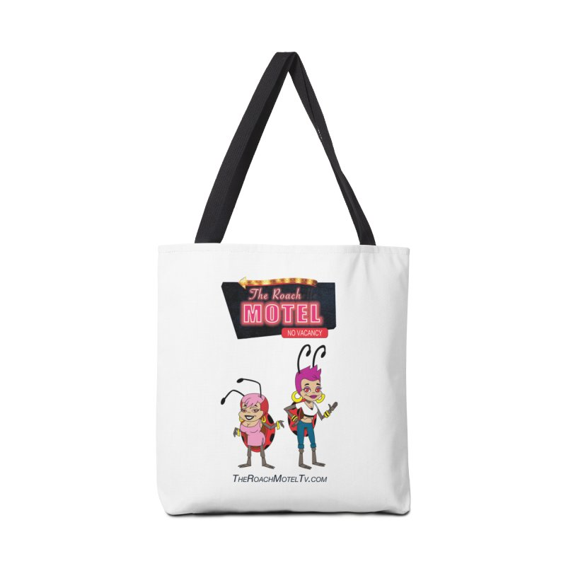 Ladybug (White) Accessories Tote Bag Bag by The Roach Motel's Artist Shop