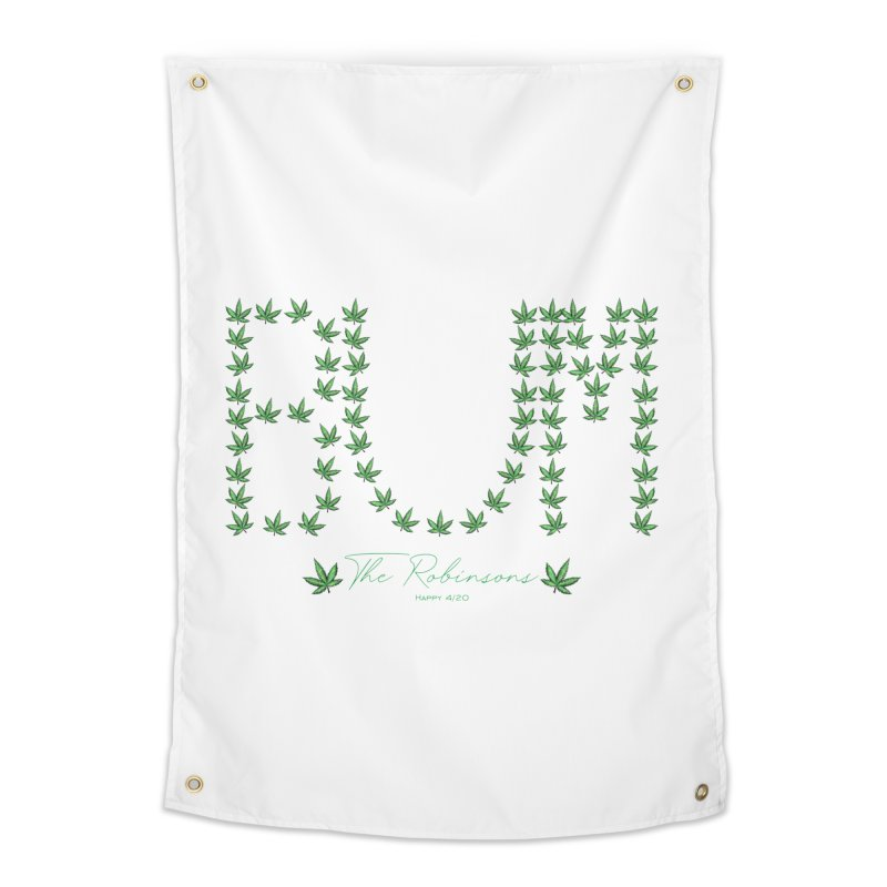 Happy 4/20 Home Tapestry by The Robinsons' Merch Store