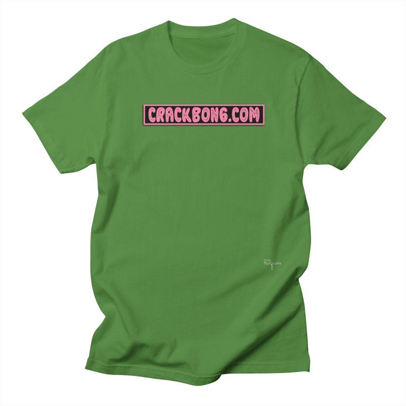 Crack Bong Dot Com (Pink) Men's Regular T-Shirt by The Robinsons' Merch Store