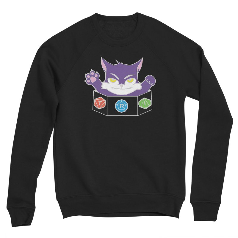 TRI Cat Men's Sponge Fleece Sweatshirt by The Role Initiative's Artist Shop
