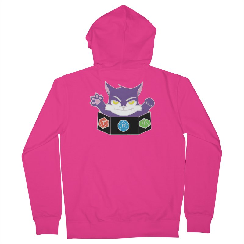 TRI Cat Men's French Terry Zip-Up Hoody by The Role Initiative's Artist Shop