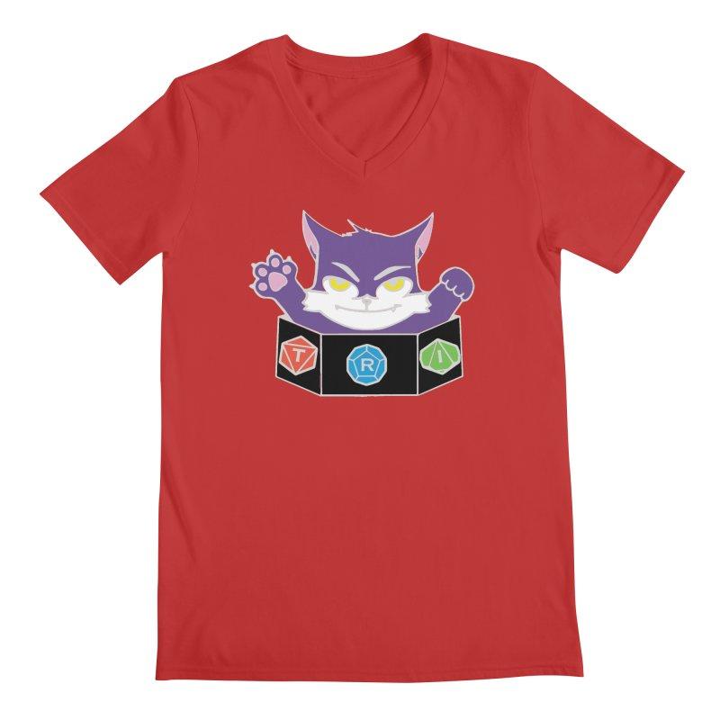 TRI Cat Men's Regular V-Neck by The Role Initiative's Artist Shop
