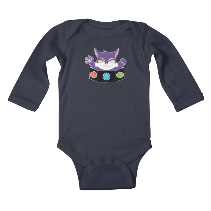 TRI Cat Kids Baby Longsleeve Bodysuit by The Role Initiative's Artist Shop