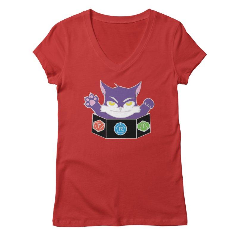 TRI Cat Women's V-Neck by The Role Initiative's Artist Shop