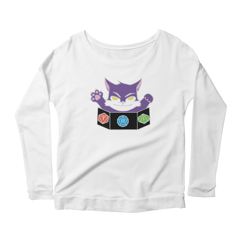 TRI Cat Women's Scoop Neck Longsleeve T-Shirt by The Role Initiative's Artist Shop