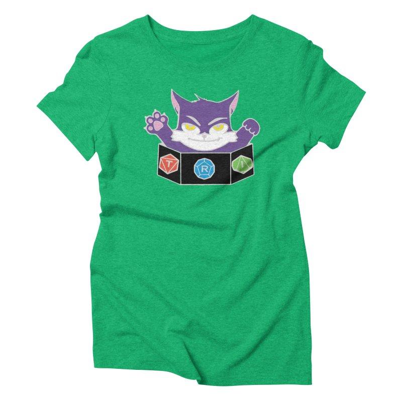 TRI Cat Women's Triblend T-Shirt by The Role Initiative's Artist Shop