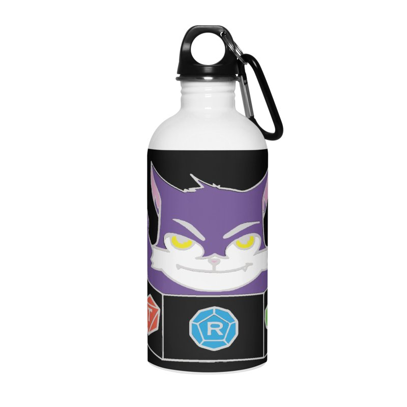 TRI Cat Accessories Water Bottle by The Role Initiative's Artist Shop