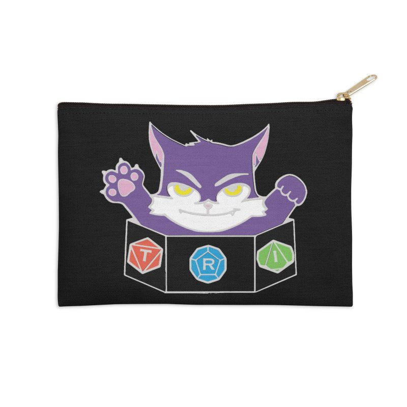 TRI Cat Accessories Zip Pouch by The Role Initiative's Artist Shop