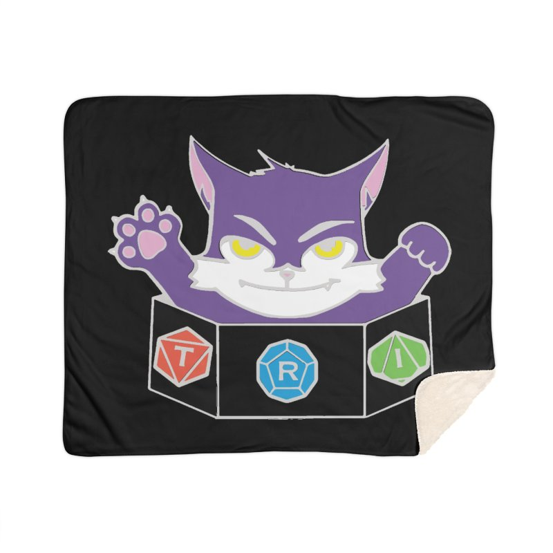 TRI Cat Home Sherpa Blanket Blanket by The Role Initiative's Artist Shop