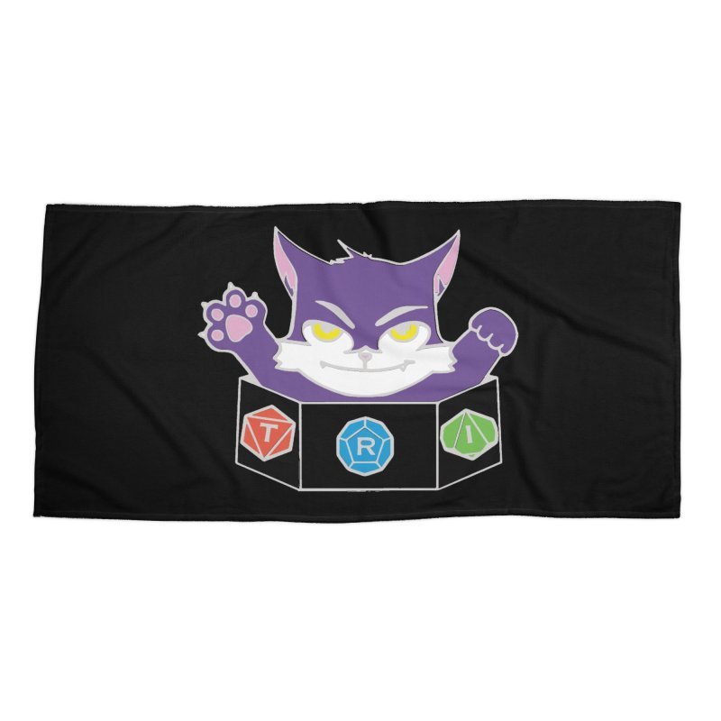 TRI Cat Accessories Beach Towel by The Role Initiative's Artist Shop