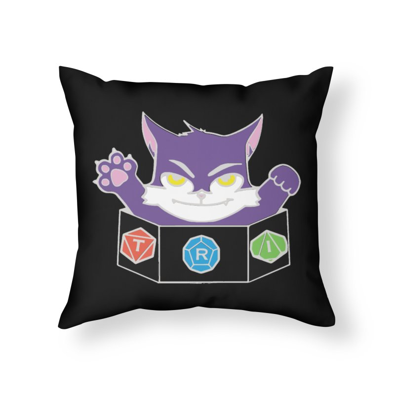 TRI Cat Home Throw Pillow by The Role Initiative's Artist Shop