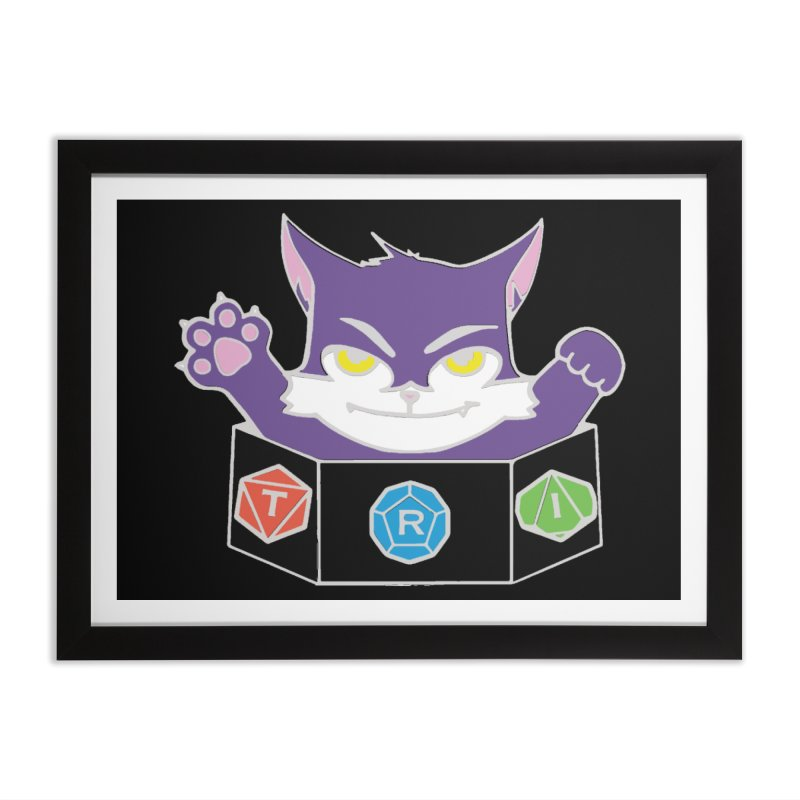 TRI Cat Home Framed Fine Art Print by The Role Initiative's Artist Shop