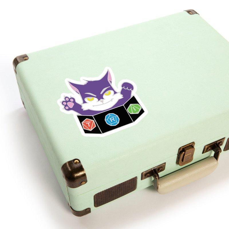 TRI Cat Accessories Sticker by The Role Initiative's Artist Shop