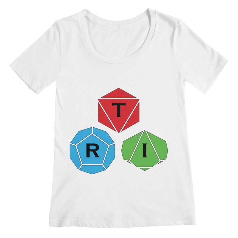 TRI Logo (Color) Women's Regular Scoop Neck by The Role Initiative's Artist Shop