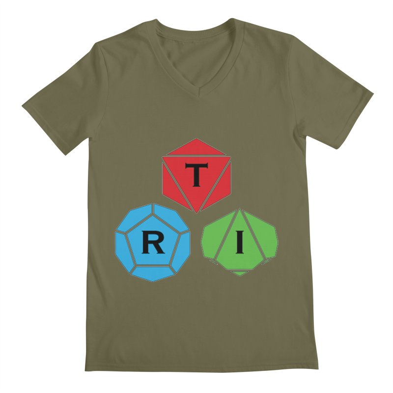 TRI Logo (Color) Men's Regular V-Neck by The Role Initiative's Artist Shop