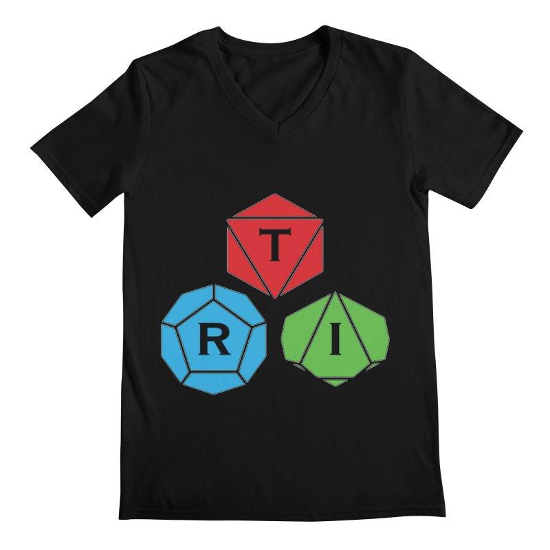 TRI Logo (Color) Men's Regular V-Neck by The Role Initiative's Artist Shop