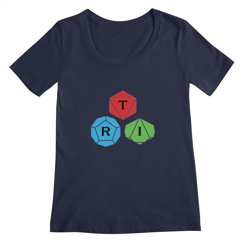 TRI Logo (Color) Women's Regular Scoop Neck by The Role Initiative's Artist Shop