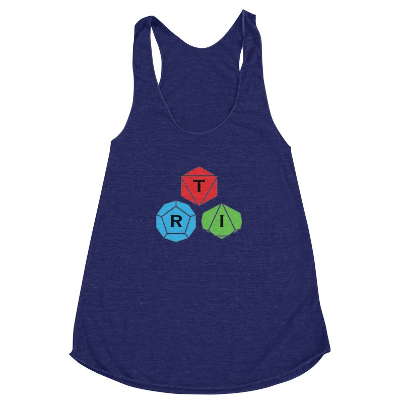 TRI Logo (Color) Women's Racerback Triblend Tank by The Role Initiative's Artist Shop