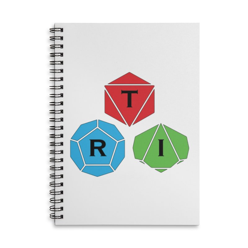 TRI Logo (Color) Accessories Lined Spiral Notebook by The Role Initiative's Artist Shop