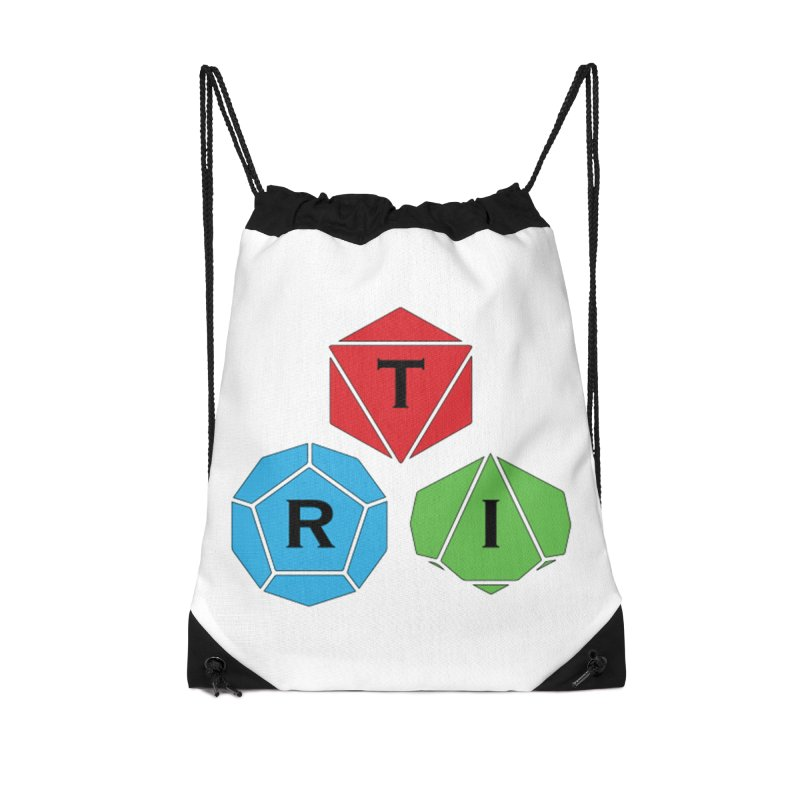 TRI Logo (Color) Accessories Drawstring Bag Bag by The Role Initiative's Artist Shop