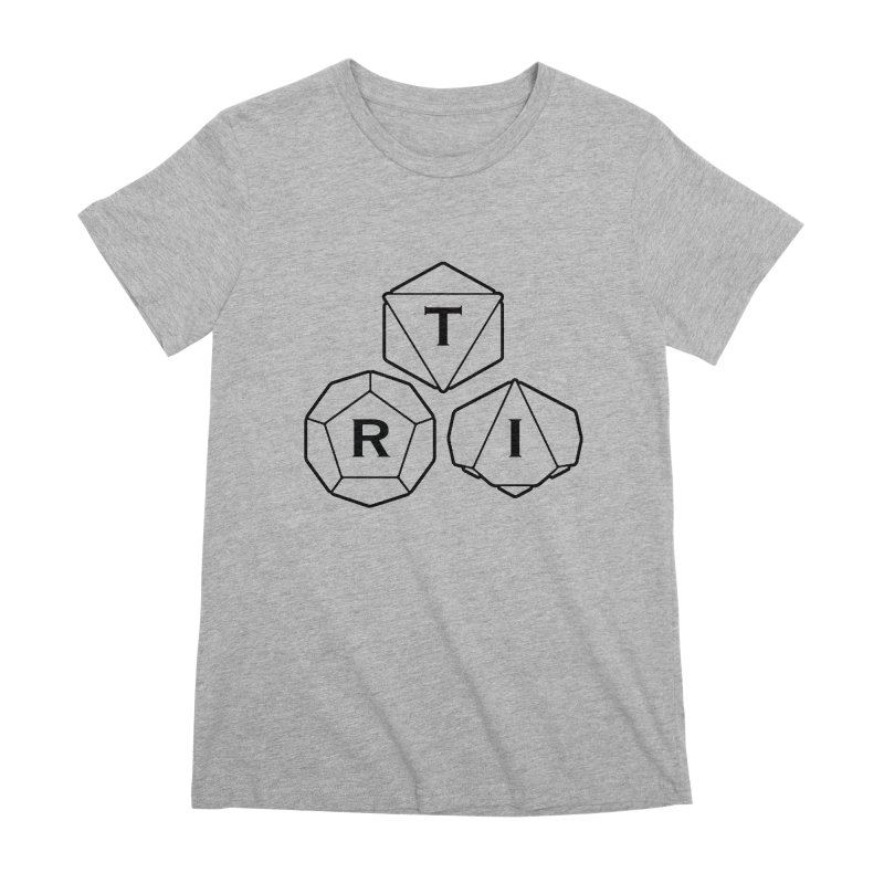 TRI Black Logo Women's Premium T-Shirt by The Role Initiative's Artist Shop