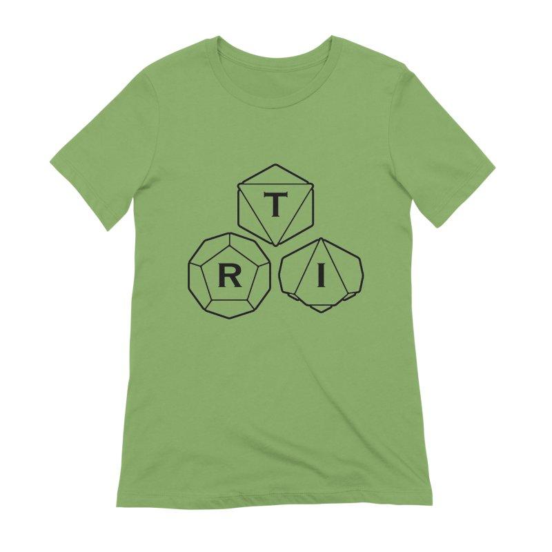 TRI Black Logo Women's Extra Soft T-Shirt by The Role Initiative's Artist Shop