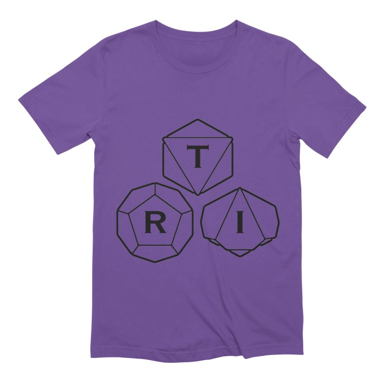 TRI Black Logo Men's Extra Soft T-Shirt by The Role Initiative's Artist Shop