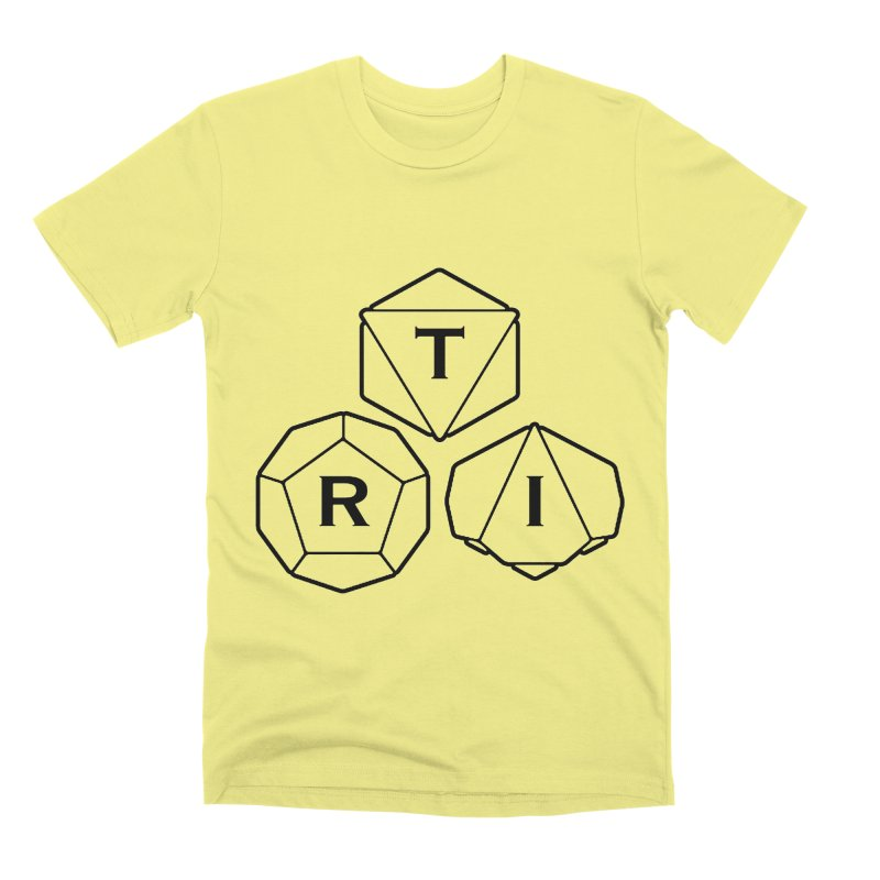 TRI Black Logo Men's Premium T-Shirt by The Role Initiative's Artist Shop
