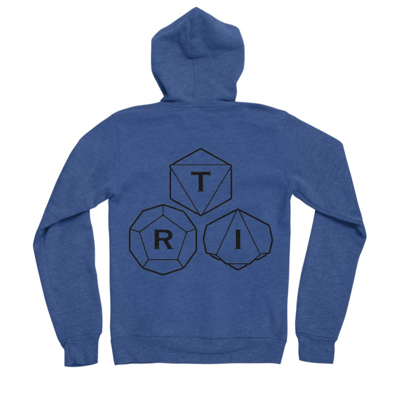 TRI Black Logo Women's Zip-Up Hoody by The Role Initiative's Artist Shop